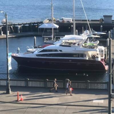 Yacht in Bell Harbor Marina