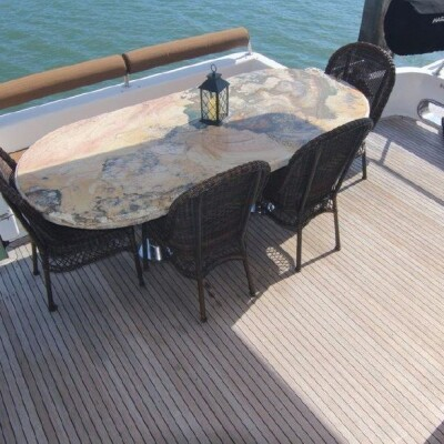 aft deck dining and seating
